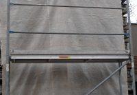 Exemple de montage d'échafaudage de facade pour toiture Hünnebeck Bosta en acier