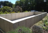 Coffrage pour construction de piscine en beton